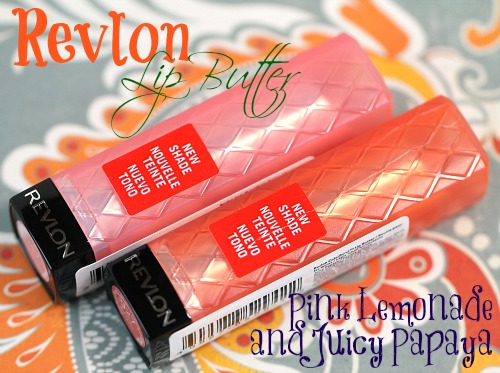 revlon pink lemonade and juicy papaya lip butters
